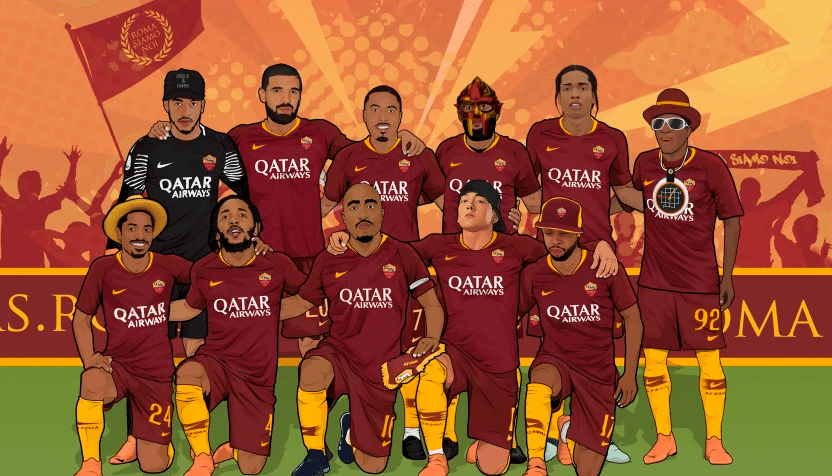 AS Roma Players And Logo History